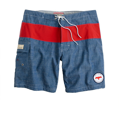 Apolis® chambray swim trunks