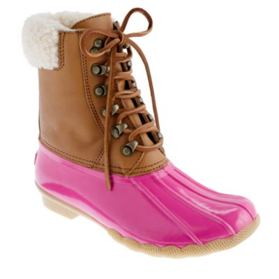Sperry Top Sider for J Crew short Shearwater boots