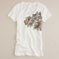 Painted bouquet tee