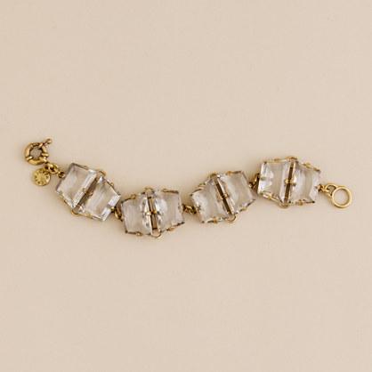 Faceted gla�on bracelet