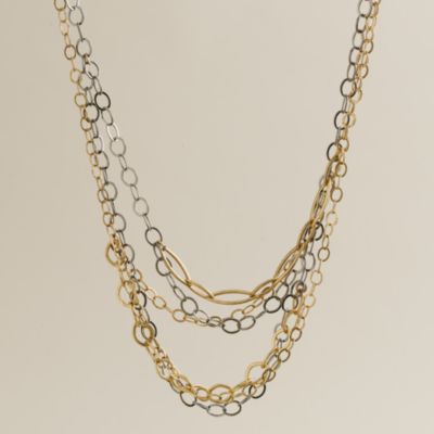 Mixed-metal necklace :