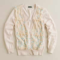 Chiffon forget-me-not cardigan