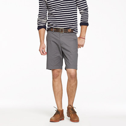 "9"" club short in lightweight chino"