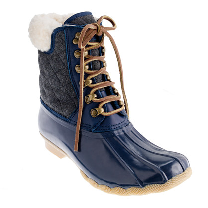 Sperry Top-Sider® for J.Crew quilted short Shearwater boots