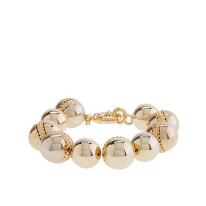 Metal pearl bracelet