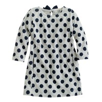 Girls' bow-neck tunic in dot