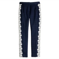 Pre-order Collection lace-stripe tuxedo pant