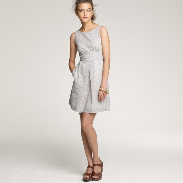 Embossed basket-weave beach dress
