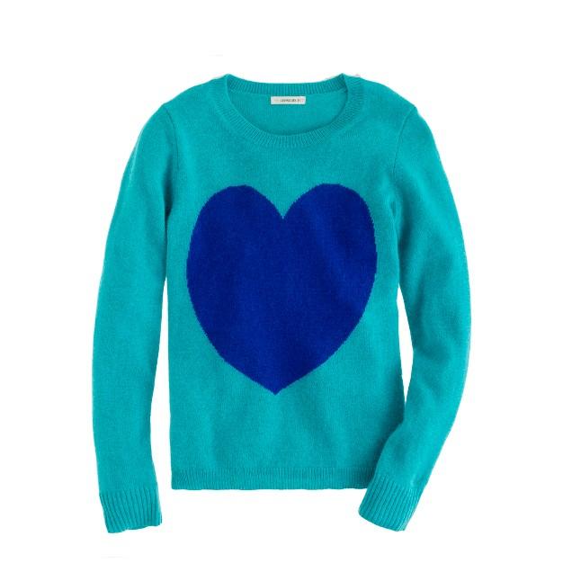 Girls' heart sweater