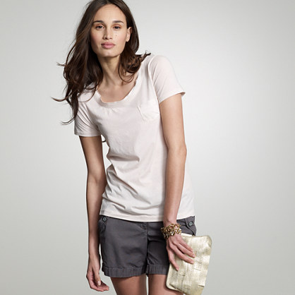 Tissue mini-pocket tee