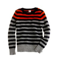 Boys' engineered-stripe waffle sweater