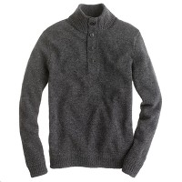 Lambswool mockneck sweater