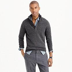 Lambswool mockneck sweater