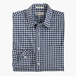 Slim washed Thomas Mason® for J.Crew shirt in blue gingham