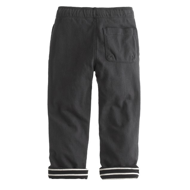 Boys' washed knit pant with stripe lining