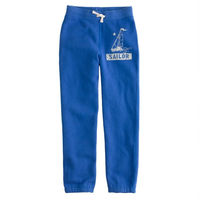 Boys' graphic sailboat knit pant