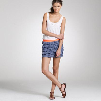 Beach chambray Lucca skirt