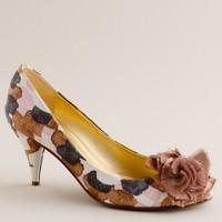 Blume printed peep toes