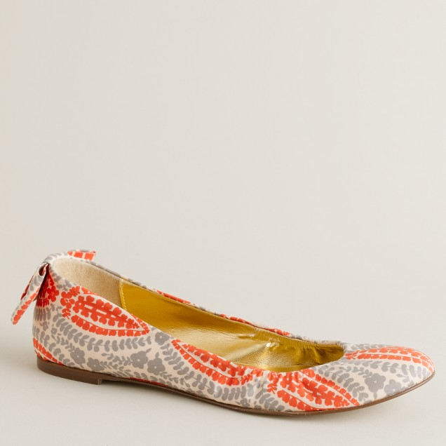 Lone patterned ballet flats