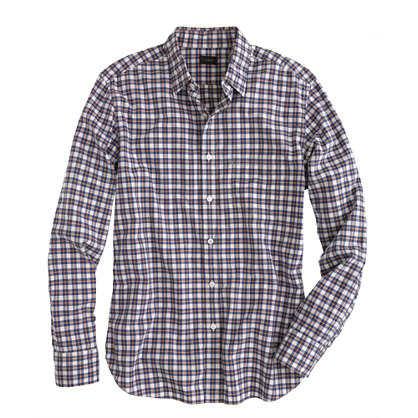 Slim Secret Wash shirt in cider check