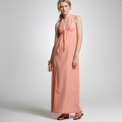 Chambray maxi dress