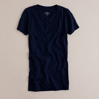 Vintage cotton V-neck T-shirt