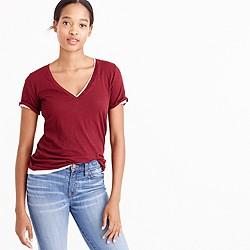 Vintage cotton V-neck T-shirt