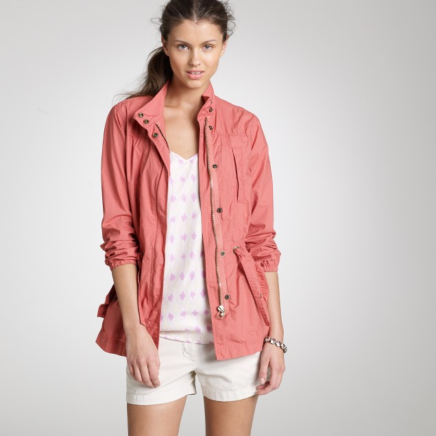 Poplin boardwalk jacket