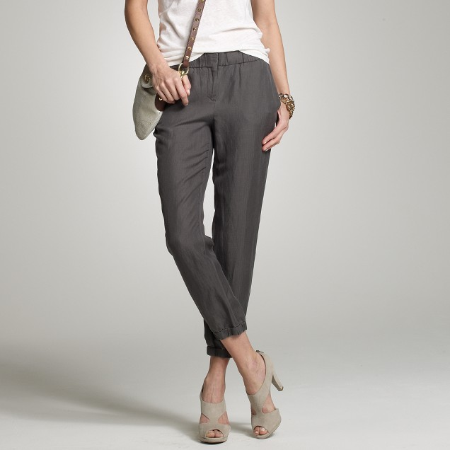 Silky linen slouchy pant
