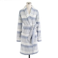 Terry-lined robe in stripe
