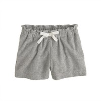 Girls' terry drawstring short