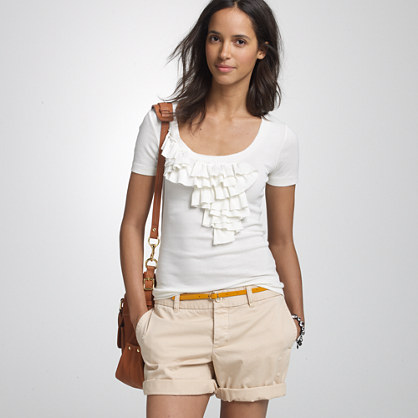 Perfect-fit cascade tee