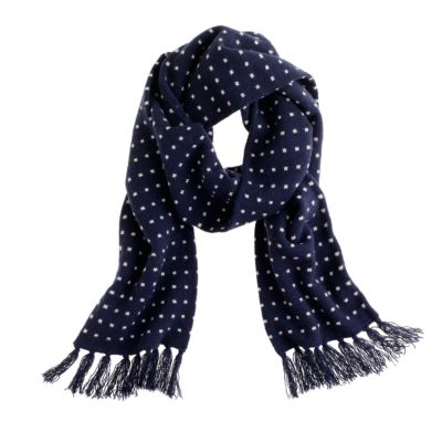 lambswool dot scarf j crew