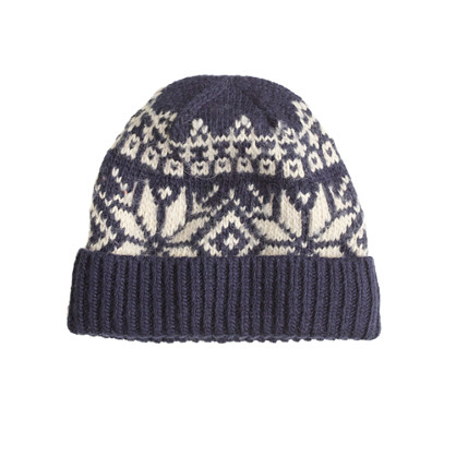 Lambswool snowflake Fair Isle hat