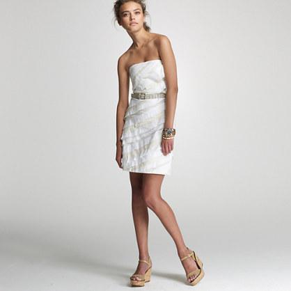 Ribbon cut-wave dress
