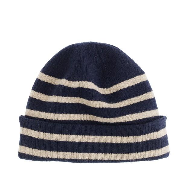 Lambswool stripe hat