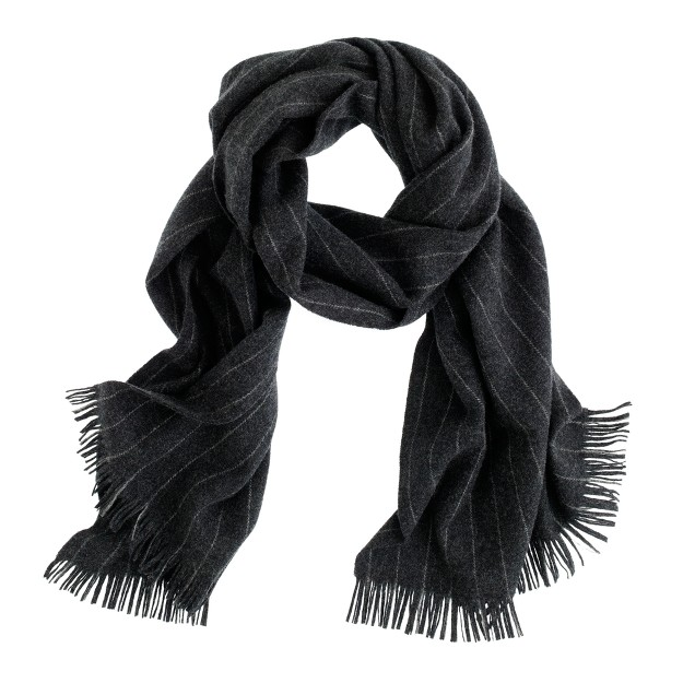 Fox Brothers chalk-stripe scarf