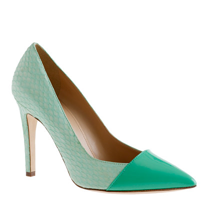 Collection Sasha snakeskin pumps