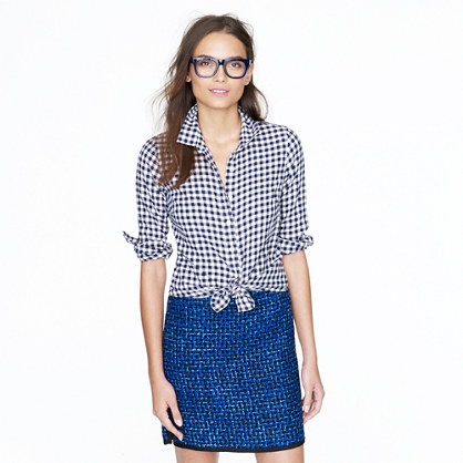 Tall perfect shirt in gingham flannel