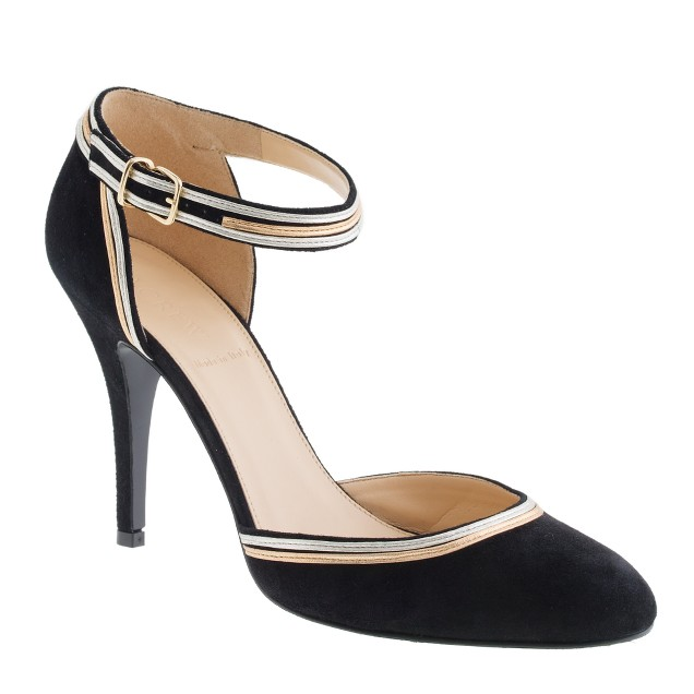 Ava metallic-trim pumps