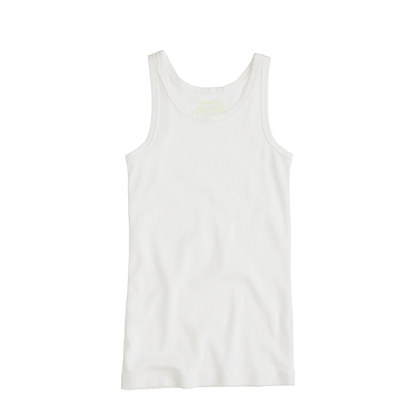 Girls' tissue rib tank