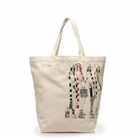 Reusable canvas tote
