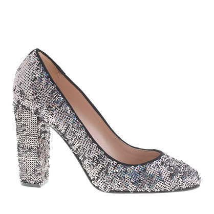 Collection Etta sequin pumps