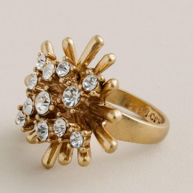 Crystal devoté cocktail ring