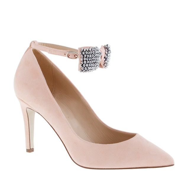 Collection Everly crystal bow-tie pumps