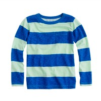 Boys' long-sleeve ringer tee in wide stripe
