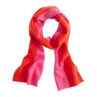 Girls' cashmere colorblock scarf