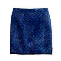 Postage stamp mini in indigo tweed