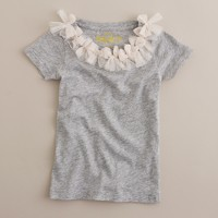 Girls' tulle bow tee