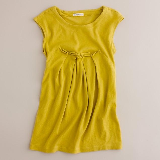 Girls' cozy cotton tunic dress
